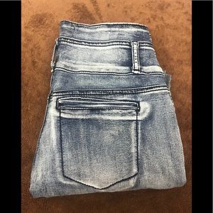 Almost famous hi waisted acid washed jeans size 11
